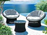 360 graus girando Rattan ao ar livre / sofá de vime Mobília de jardim de lazer