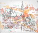 Pittura a olio domestica del reticolo di paesaggio dell'estratto della decorazione di alta qualità