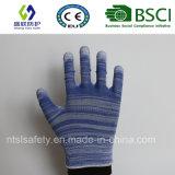 Покрынная PU перчатка безопасности работы (SL-PU201B)