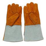 Перчатки заварки безопасности Split кожи Cowhide защитные