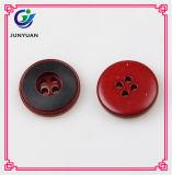 Красная кнопка пальто смолаы цвета 4holes круглая
