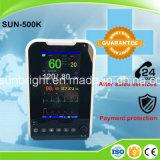 7'' Producto caliente CE y FDA 6 parámetros Portable de los signos vitales del monitor de paciente de la ICU Multi-Parameter Monitor de paciente