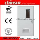 A alta qualidade 90 minutos dobra a porta de incêndio de aço