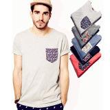 Vêtements hommes personnalisé imprimé T Shirt avec le tissu de coton