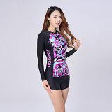 Sportswear atlético da ginástica de Lycra da luva longa das mulheres para Slimming