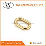 Niquelar chapeou a curvatura oval soldada metal do anel