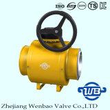 Estándar completamente soldado válvula de bola industrial de gas