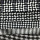 Виды Houndstooth черные & белая ткань шерстей