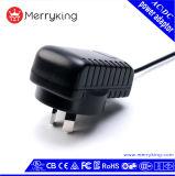 De geregelde Adapter van de Levering van de Macht van Au AC gelijkstroom van de Output 9V 1A
