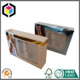 Rectángulo de empaquetado de papel cosmético del claro de la ventana de papel metálica del PVC