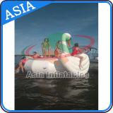 De nieuwe Trampoline van de Zwaan van het Water van het Ontwerp Towable, Trampoline van de Vorm van de Verbindingsdraad van het Water de Dierlijke
