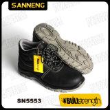Промышленные защитная обувь из натуральной кожи с новыми PU/PU (SN5553)
