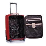 中国の製造業者実用的なデザイン旅行荷物の箱、OEM PUの2つの車輪が付いている革機内持込のトロリー袋