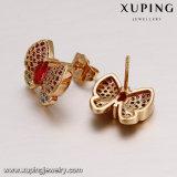 64191 manera 18k chapado en oro CZ colorido conjunto de joyería de la mariposa