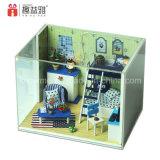 Mini brinquedos de madeira conjuntos de quarto de móveis