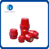 A manutenção programada datilografa a isolador elétrico o isolador composto cor vermelha