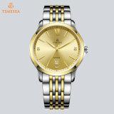 Il cristallo dell'amante delle coppie di marca della cassa di acciaio inossidabile di modo guarda l'orologio svizzero 72842