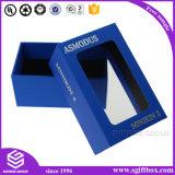 Caja de papel de alta calidad hechos a mano de la ventana de plástico transparente