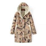 Tamanho de mais alta qualidade Fashion Camouflage mulheres casaco de Inverno