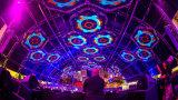 schermo molle della facciata di media della tenda di alta luminosità LED di pH37.5mm/56.25mm/75mm