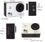小型スポーツのカメラの屋外のダイビングの防水処置カム4k DV