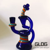 Form-Ölplattform-purpurroter grüner Becher-Glaswasser-Rohr des Brennkolben-10inch