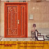 Твердая дверь входа мати и сынка двери сердечника Mahogany деревянная (XS1-013)