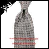 Jacquard Handmade laço de seda cinzento tecido para homens