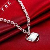 De zilver Geplateerde Halsband van de Tegenhanger van het Hart van de Oneindigheid van het Ontwerp van de Manier voor Meisje