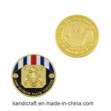 Монетка сувенира металла эмали промотирования характерная