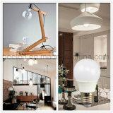 La luz E27 3W del maíz del LED calienta la lámpara de plata blanca del bulbo de la carrocería LED del color