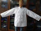 Двойное съемное пальто шеф-повара кнопок, куртка шеф-повара с тубопроводом