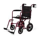 Alluminio leggero della sedia a rotelle della presidenza di trasporto di Medline con i freni di mano