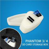 Dji幻影3 4のためのSDカードの携帯用ケースのSIMカードのメモリカードの収納箱
