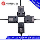 Geregelter Au Wechselstrom-Versorgung-Adapter der Ausgabe-9V 1A