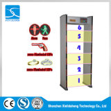 6 Zonen Infrated Technologie LED-Bildschirmanzeige-Durchlauf-Metalldetektor