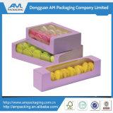 Популярная подгонянная оптовая продажа коробки Macaron коробки хлебопекарни бумажная упаковывая