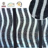 Tessuto in bianco e nero del merletto del ricamo di Polyster, più nuovo stile per l'indumento C10027 delle donne