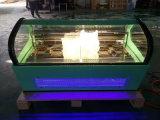 DEL allumant le mini congélateur d'étalage de crême glacée/coffret étalage de Gelato (F-QV680A-W)