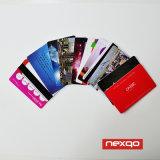 Scheda di insieme dei membri di plastica calda di affari del PVC di stampa in offset di colore di vendita quattro con laminazione