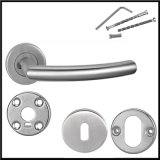 Stainless Steel Modern Interior Door Hollow Handles Rising