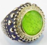 Ringen van het Kristal van de Ring van de Buitenlandse Handel van de Juwelen van Europese en Amerikaanse Mensen de Zwarte Retro