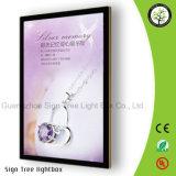 Коробка освещенная контржурным светом СИД алюминиевая тонкая светлая