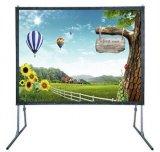 Écran se pliant rapide de projection mobile bon marché, écran extérieur