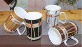 Taza de cerámica de la etiqueta al por mayor 12oz para el regalo