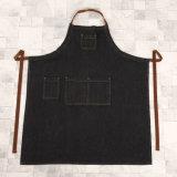100% coton Denim Cuisine Tablier Porte-pot Ensemble réglable Homme Bavette complète (RS-170406)