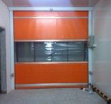 Puerta rápida de la persiana enrrollable del PVC del viento anti con la ventana transparente