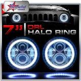 Угол глаза Halo 50W раунда 7 дюйма и фары для Jeep Wrangler Харлей мотоцикл высокого ближнего света