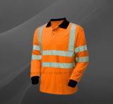 Hi рубашка безопасности работы лета визави отражательная с длинней втулкой