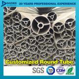 Perfil de aluminio de aluminio de la protuberancia 6063 T5 para el tubo redondo del tubo